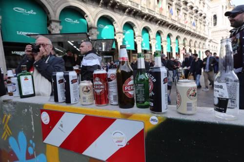 Milano, birra a fiumi per i tifosi tedeschi dell'Eintracht 2