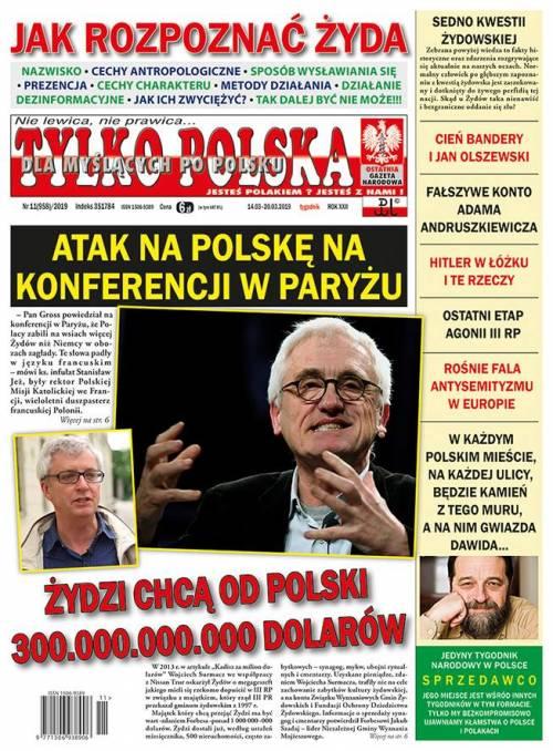 Polonia, giornale nazionalista spiega come riconoscere un ebreo