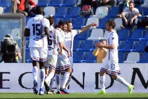 Serie A, manita della Sampdoria in casa del Sassuolo. Il Bologna vince a Torino