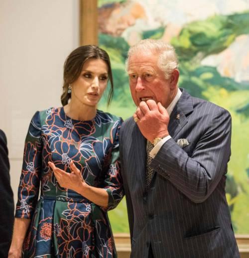 Il Principe Carlo: mostra alla National Gallery con Letizia di Spagna  2