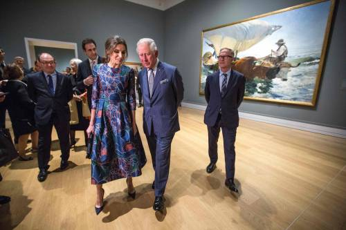 Il Principe Carlo: mostra alla National Gallery con Letizia di Spagna  5