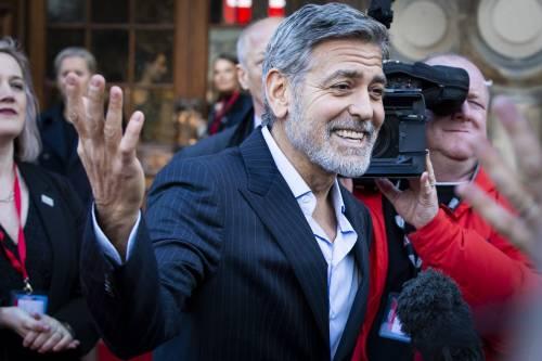 George Clooney e Amal: red carpet nel cuore di Edimburgo  3