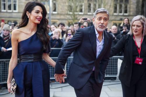 George Clooney e Amal: red carpet nel cuore di Edimburgo  4
