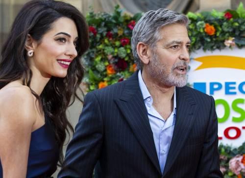 George Clooney e Amal: red carpet nel cuore di Edimburgo  7