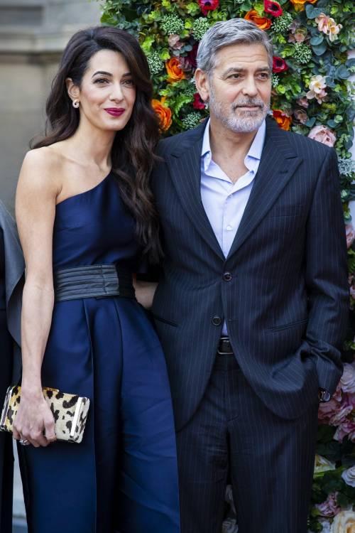George Clooney e Amal: red carpet nel cuore di Edimburgo  9