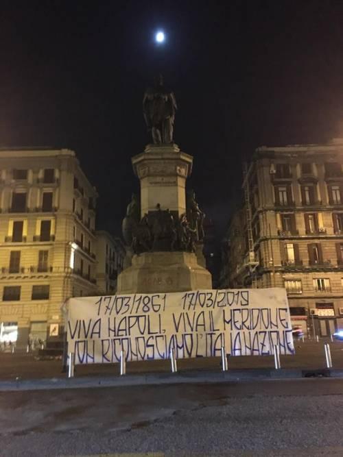 """Lo sfregio degli ultras antirazzisti: """"Non riconosciamo l'Italia nazione"""""""