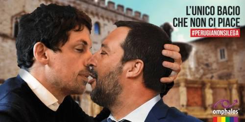 """Matteo Salvini e il """"bacio gay"""": bufera sul fotomontaggio"""