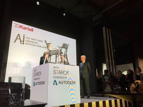 """Kartell lancia la prima sedia completamente """"disegnata"""" dall'intelligenza artificiale"""