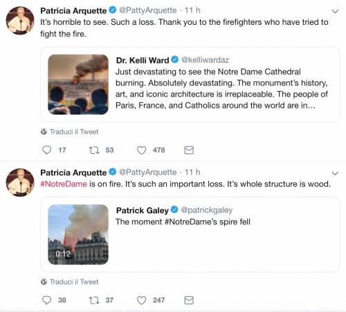 Notre Dame brucia, le reazioni vip: foto 5