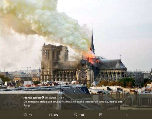 Notre Dame brucia, le reazioni vip: foto 7