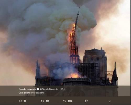 Notre Dame brucia, le reazioni vip: foto 10