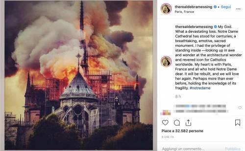 Notre Dame brucia, le reazioni vip: foto 2