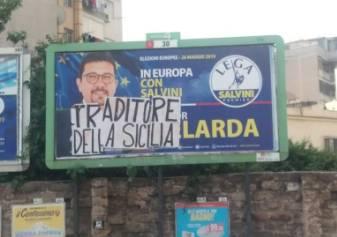 """""""Traditore della Sicilia"""". Intimidazioni contro la Lega"""