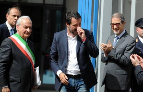 Matteo Salvini inaugura il nuovo commissariato di polizia di Corleone 8