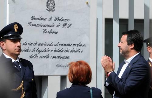 Matteo Salvini inaugura il nuovo commissariato di polizia di Corleone 14