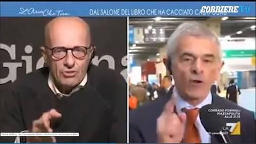 Salone del libro, così Sallusti zittisce Chiamparino in diretta tv