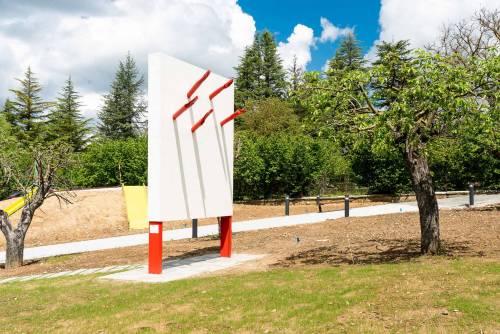 """Le opere d'arte del parco giochi """"Padre Minozzi"""" di Amatrice 3"""