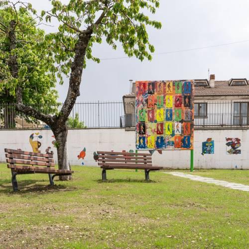 """Le opere d'arte del parco giochi """"Padre Minozzi"""" di Amatrice 8"""
