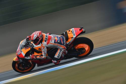 Motogp, Marquez in pole a Le Mans. Quarto Dovizioso, quinto Rossi