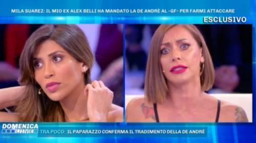 """Gf, Karina attacca Mila: """"Denunci la De André perché ti ha dato della cellulitica"""""""