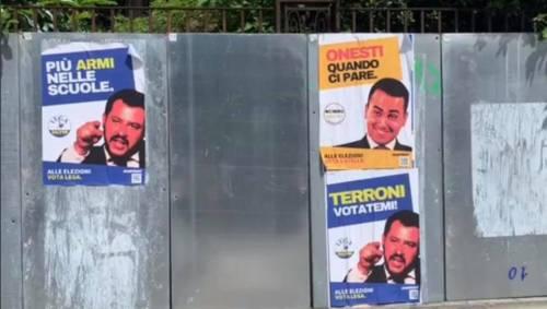"""""""Terroni votatemi"""": i finti manifesti elettorali di Salvini e Di Maio"""