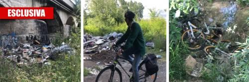 Sos piste ciclabili, a Roma si pedala tra immondizia e accampamenti rom