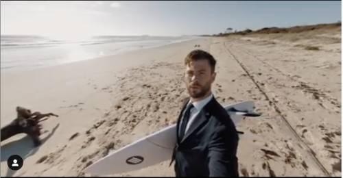 """Chris Hemsworth: il nuovo """"Guardiano della Galassia"""" mostra i suoi """"lati migliori"""""""
