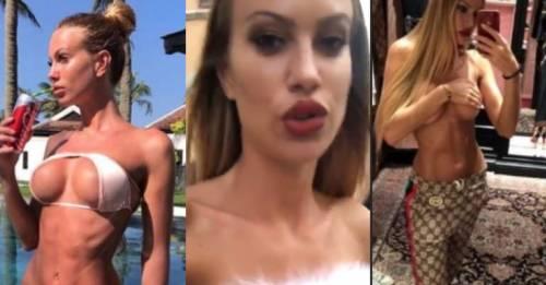 Taylor Mega fuori di seno durante lo shopping