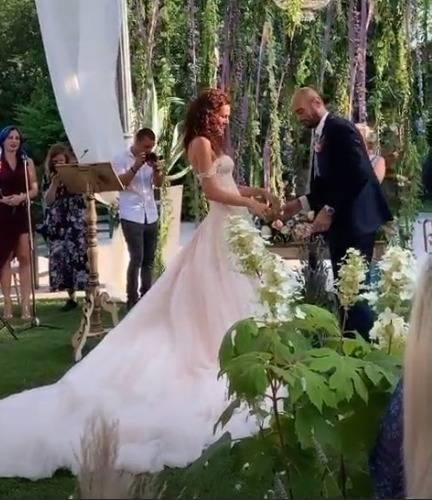 Paola Turani ha detto sì e ha sposato Riccardo Serpellini