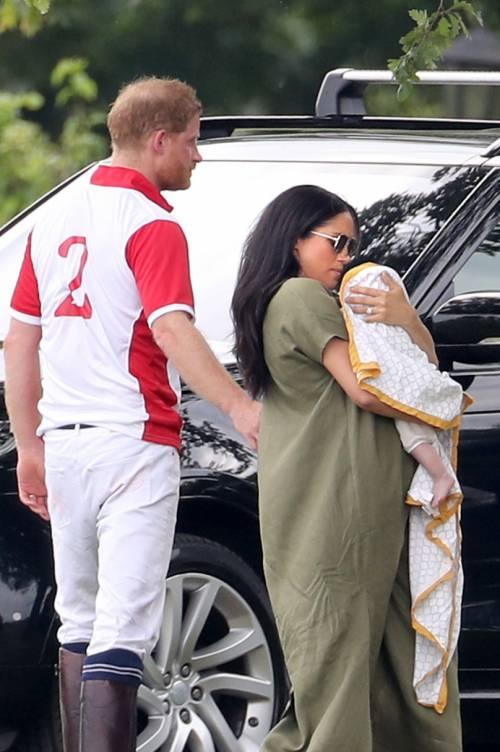 Meghan Markle e Archie alla partita di polo: foto 1