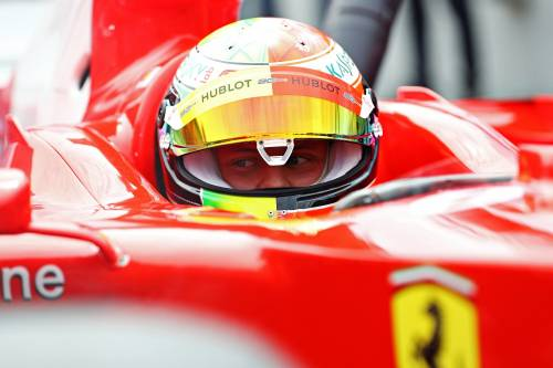 Mick Schumacher sulla Ferrari del papà: le foto più belle 8