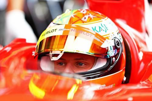 Mick Schumacher sulla Ferrari del papà: le foto più belle 6
