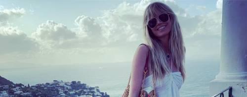 Heidi Klum si bagna nelle acque proibite di Capri: rischia una multa di 6mila euro