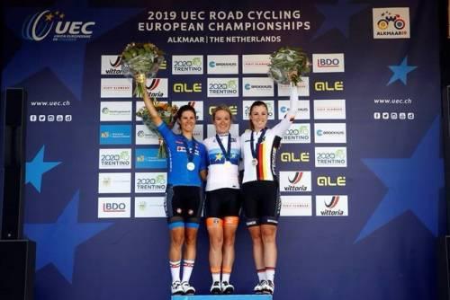 Europei ciclismo, splendido argento per Elena Cecchini nella prova Elite
