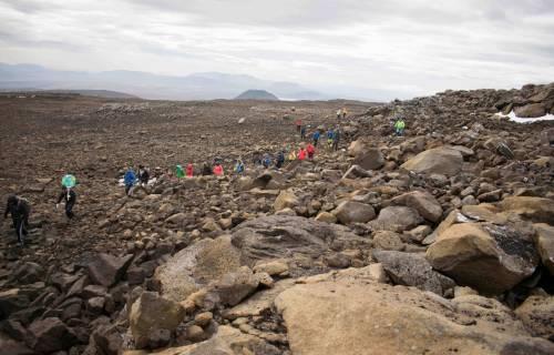 I funerali al primo ghiacciaio scomparso in Islanda 4