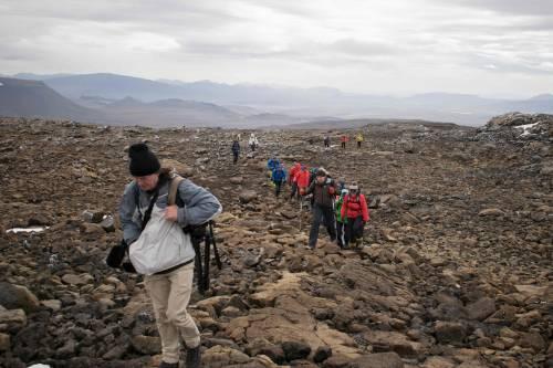 I funerali al primo ghiacciaio scomparso in Islanda 8