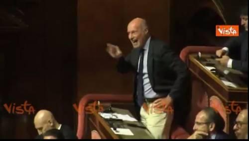 """Senato, De Falco all'attacco di Salvini: """"Buffone, vai a casa"""""""