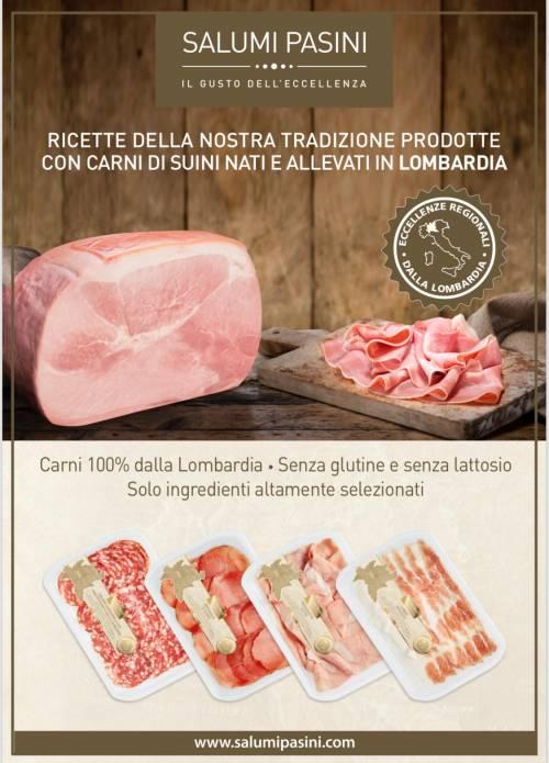 Salumi Pasini lancia la prima linea di prodotti made in Lombardia