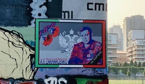 Torino, spunta un murales dedicato al leader separatista di Donetsk
