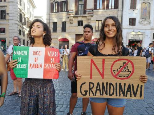 Friday for future in piazza contro le Grandi Navi a Venezia 3