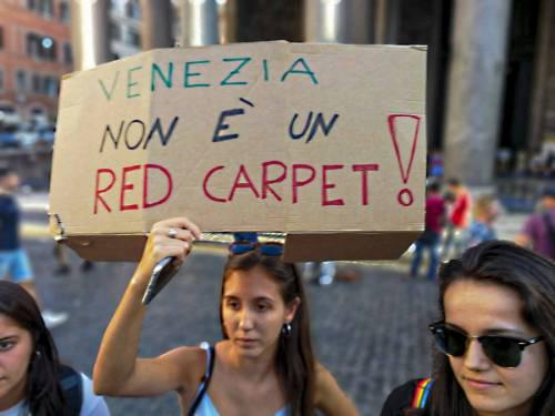 Friday for future in piazza contro le Grandi Navi a Venezia 6