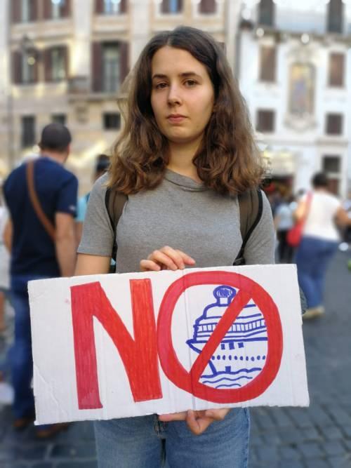 Friday for future in piazza contro le Grandi Navi a Venezia 7