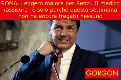 La satira del giorno: Matteo Renzi e il suo medico