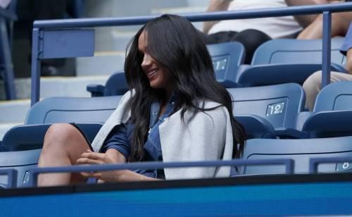 Meghan Markle in jeans conquista tutti con il suo look casual alla finale degli Us Open 5