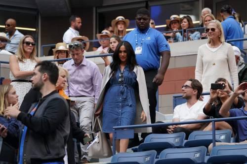 Meghan Markle in jeans conquista tutti con il suo look casual alla finale degli Us Open 7
