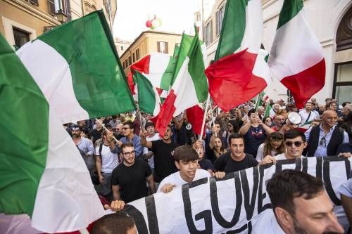 FdI e Lega in piazza contro il Conte bis 5