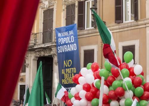 FdI e Lega in piazza contro il Conte bis 8