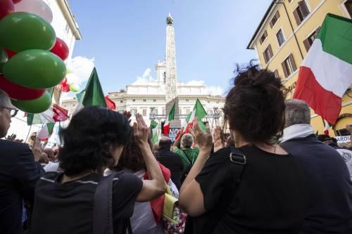 FdI e Lega in piazza contro il Conte bis 10