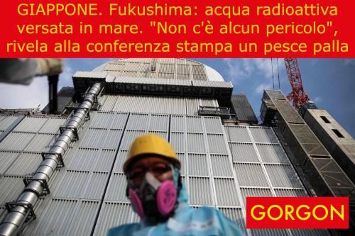 La satira del giorno: l'acqua di Fukushima