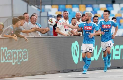 Il Napoli vince 2-0 contro la Sampdoria: decide una doppietta di Mertens